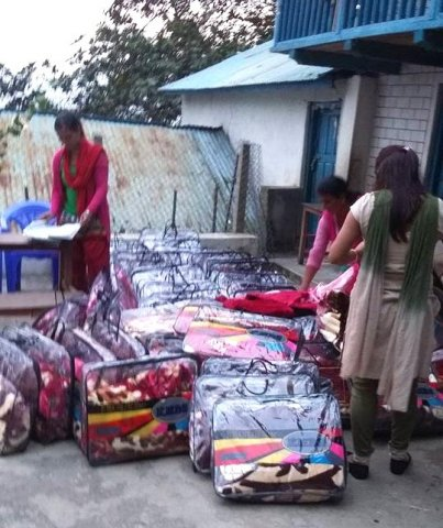 Blankets for Students and Teachers of Bhairabi Primary School Image