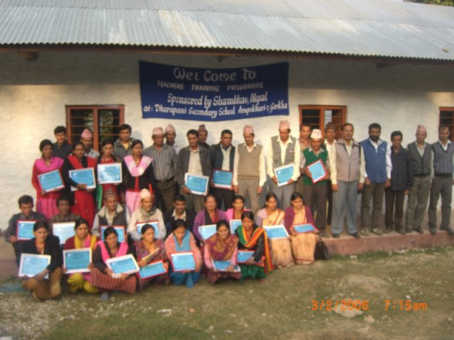 Group photo of participating teachers