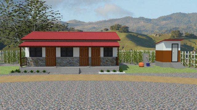 Swell Rebuild Home Gorkha Designs Three Room House Sambhav Nepal Home Interior And Landscaping Synyenasavecom