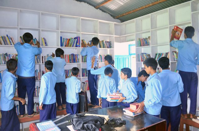 Students of Dharapani break image