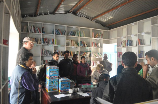 The organizers of Teacher Training Program 2011 and the Dharapani staff at the library image