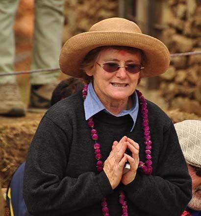 Anne at village