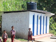 five roomed toilet block image