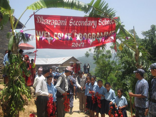 The Inaguration Ceremony Organised by the Dharapani School