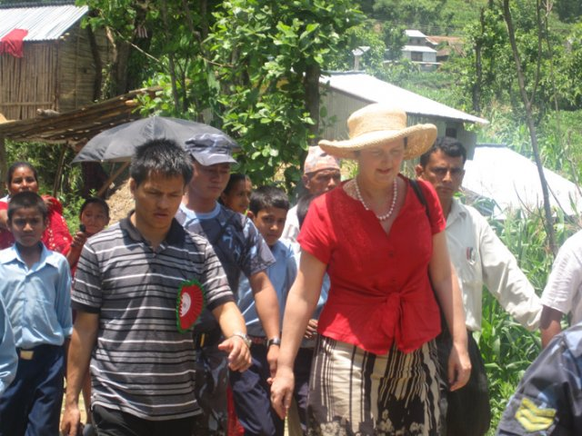 The Australlian Ambassador to Nepal Hon. Susan Grace and the Chairman of Sambhav Nepal Mr. Prem K Khatrey