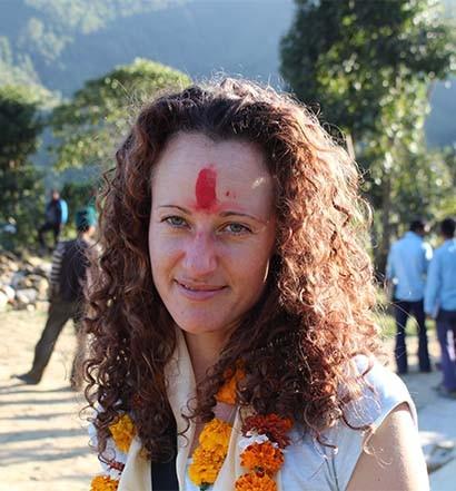 Melanie at Nepal