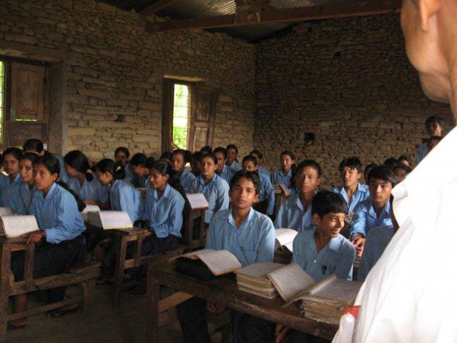 A classroom shot (8th grade)