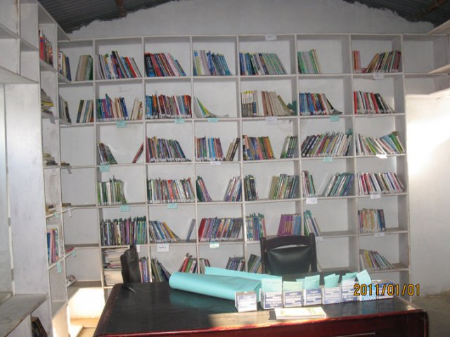 A majority of the books have been categorized and coded image