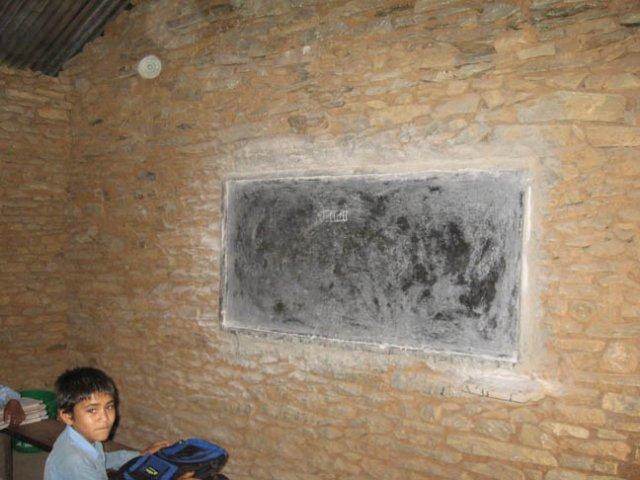 Teaching facilities at Dharapani school (3rd grade)