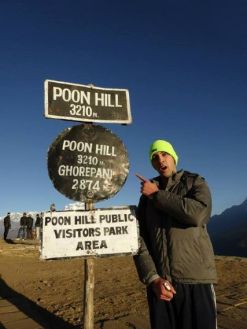 At the very poon hill