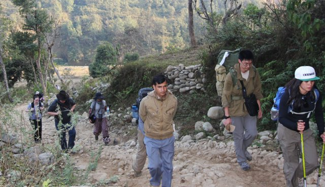 Hiking to Arupokhari