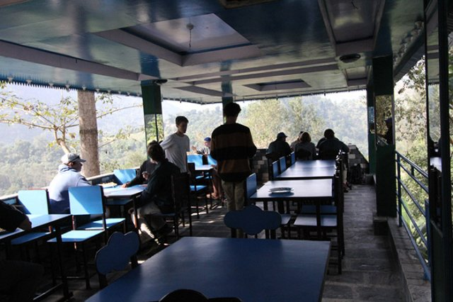 Lunch stop on the way to Gorkha