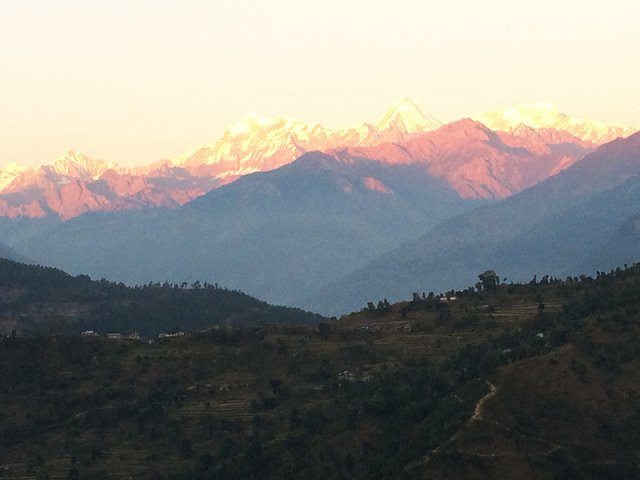 Mountains from Arupokhari