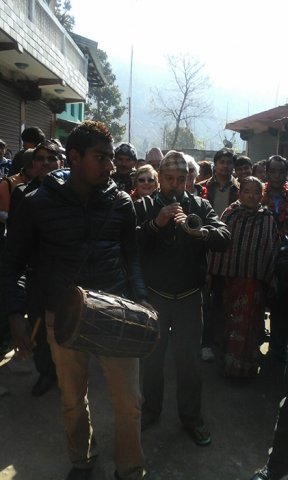Nepali Folk Instruments during the Welcome Ceremony at Gandaki HS School