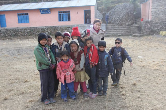 Our Founder and little sambhav with the locals
