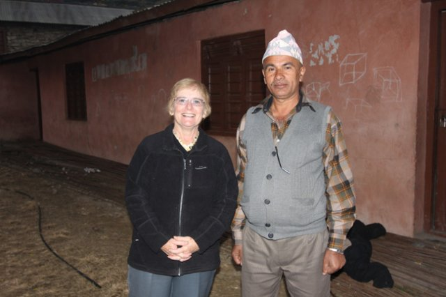 Our Supporter with the local Teacher