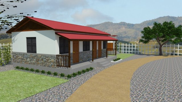 Phenomenal Rebuild Home Gorkha Designs Three Room House Sambhav Nepal Home Interior And Landscaping Oversignezvosmurscom