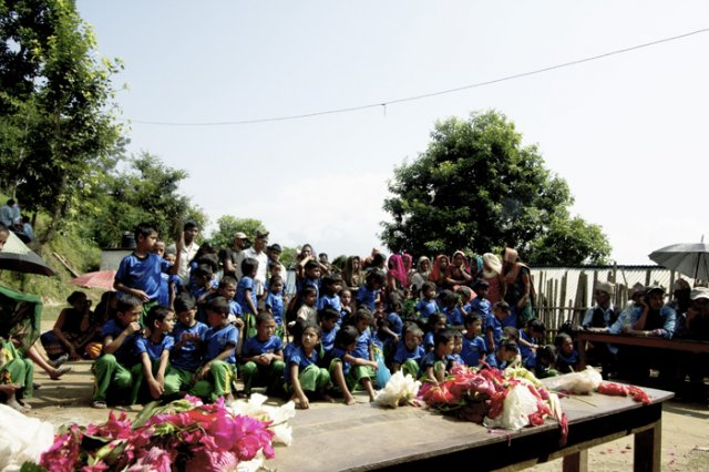 Students of Bhairabi Primary School