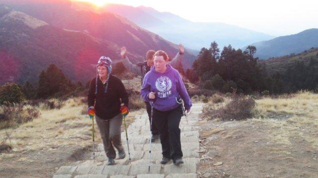 Trek to poohill for sunrise