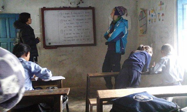Volunteering Activites at Bhairabi School
