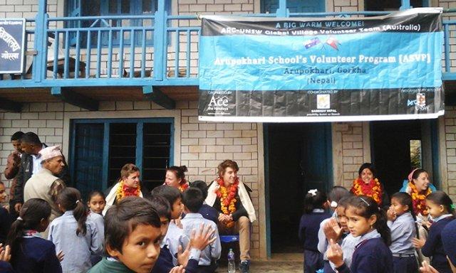 Welcome program at Bhairabi School