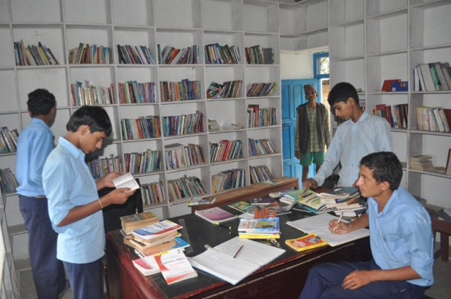 Students at Dharapani Library