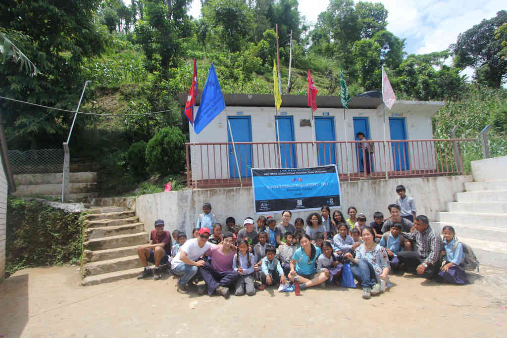 Group at Bhairabi with students