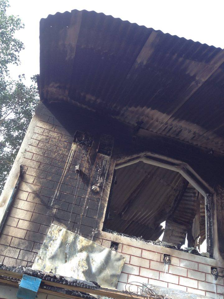 Remains of Bhairabi after Fire Damage